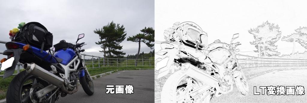 写真を単純にLT変換した場合の画像