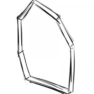 【イラスト】ガラス片ラフ図