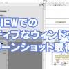 【LabVIEW】アクティブウィンドウのスクリーンショット取得方法